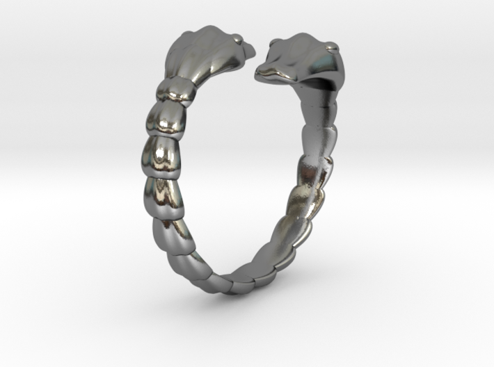 Double snake ring 3d printed