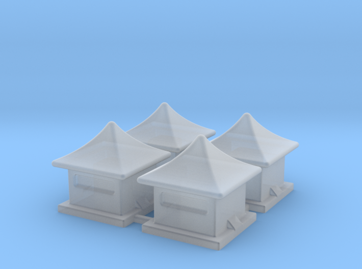2mm / 3mm Scale China Style House 3d printed