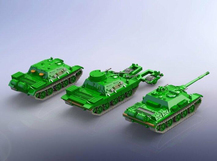 Russian SU-122 & TOP & BMR-1 1/285 3d printed