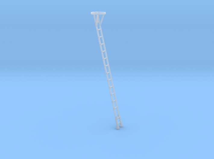HO 18 ft Signal Post Ladder with Top Safety Cage 3d printed