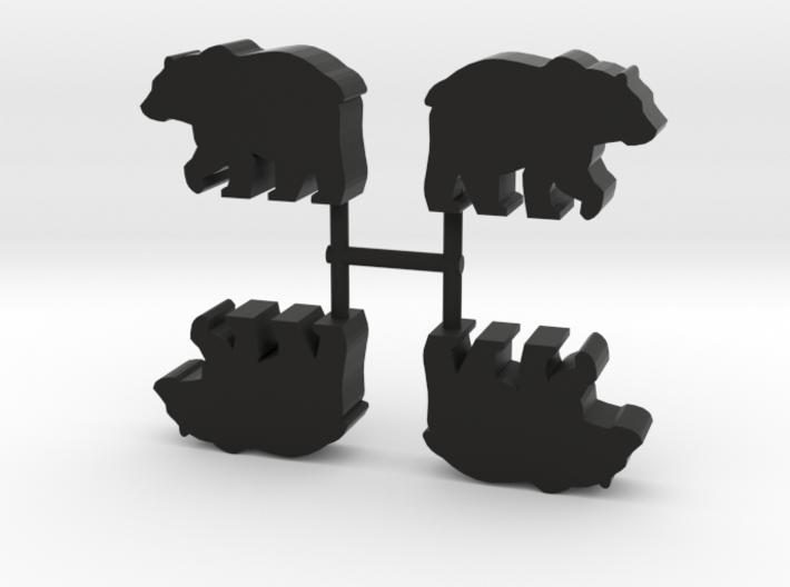 Bear Meeple, 4-set 3d printed