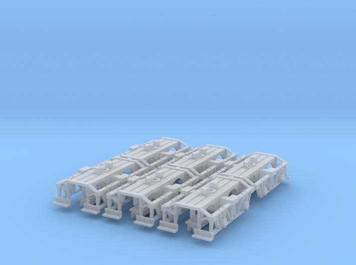 Three Pair Nn3 Logging Disconnect Trucks (6 trucks 3d printed