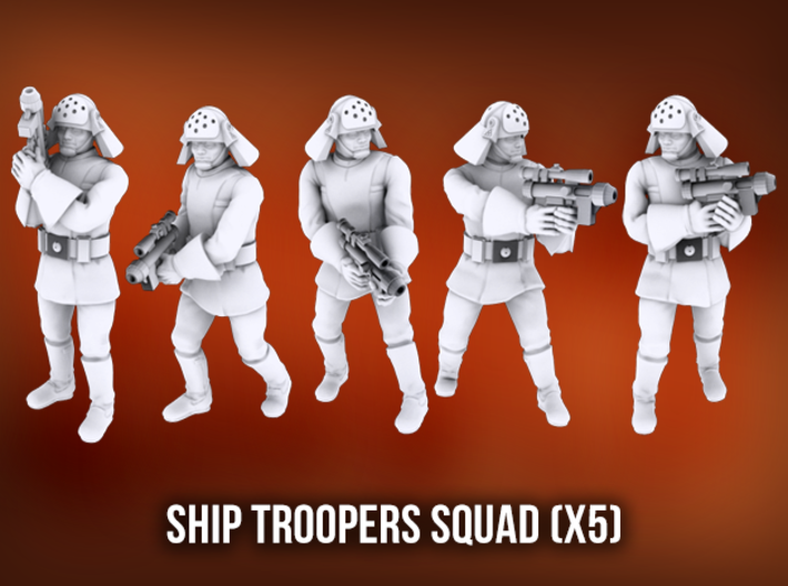 Ship Trooper Squad (x5) 3d printed