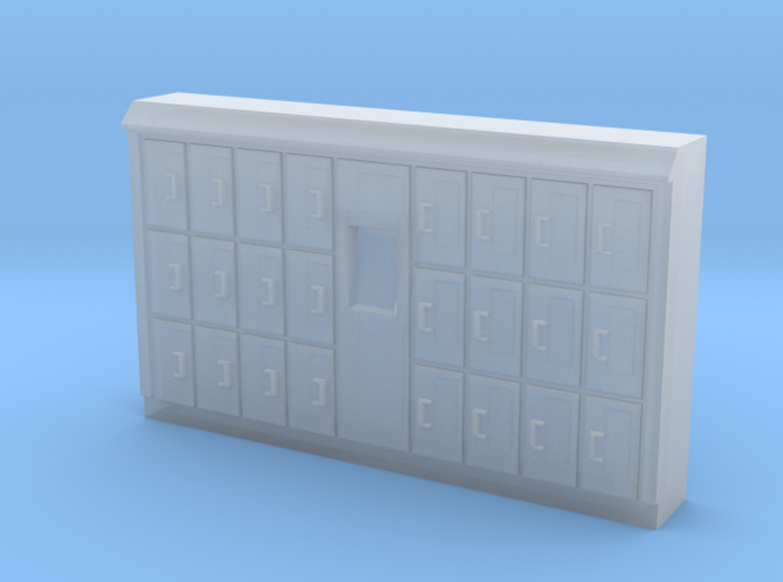 HO Scale Baggage Lockers #1 3d printed