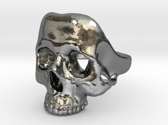 Skull Ring (fine) 3d printed