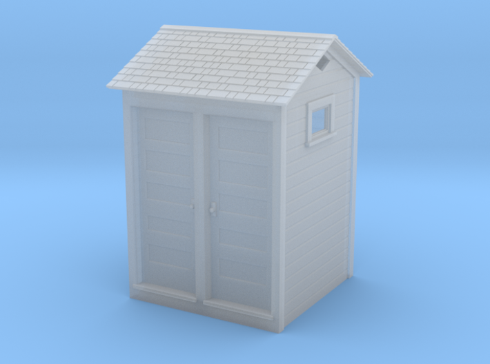 HO Great Northern Double Privy 3d printed Shapeways render
