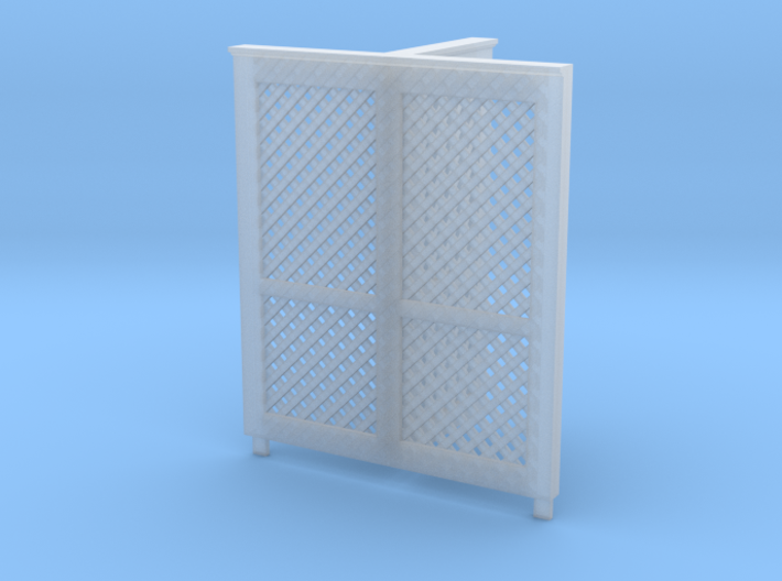 HO Privacy Screen for Great Northern Double Privy 3d printed