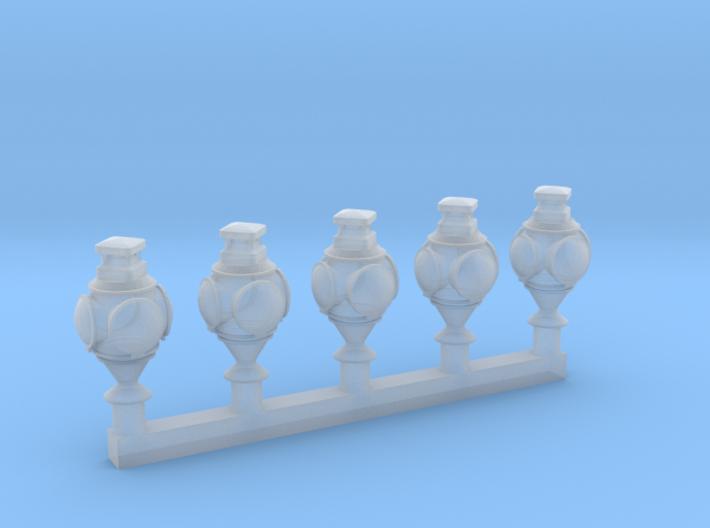HO Great Northern lantern - 5 pack 3d printed Shapeways render
