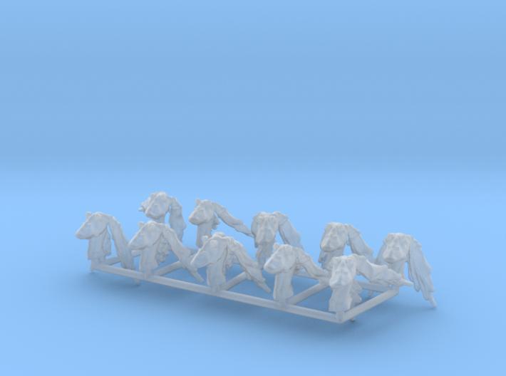 (Legion) 10x Gungan Heads 3d printed