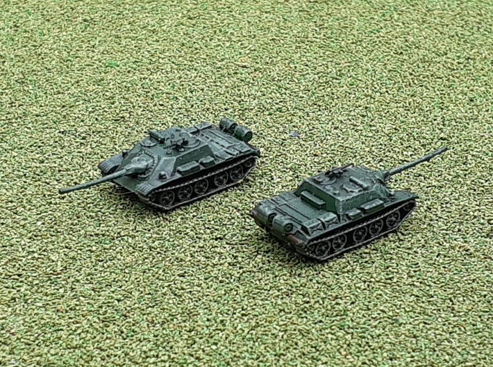 Russian SU-122 54 Tank Destroyer 1/200 3d printed