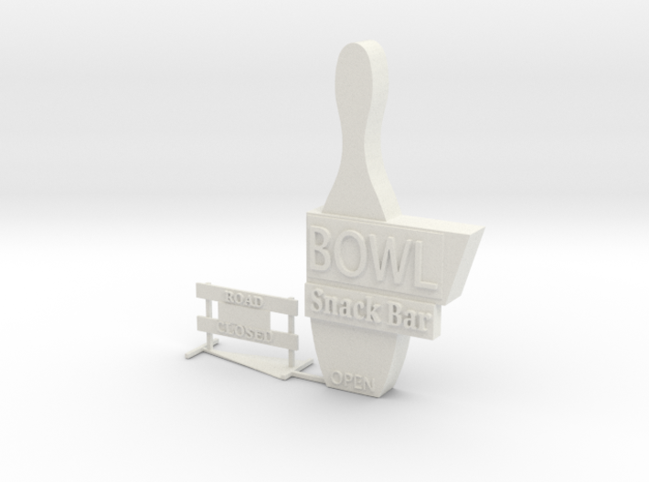 O Scale Signs 2 3d printed This is a render not a picture