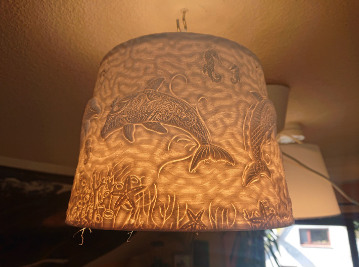 Dolphin Lampshade 3d printed