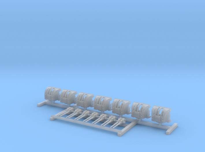 """1/600 HMS Hood 4""""/45 (10.2 cm) QF Mark XVI Guns x7 3d printed 1/600 HMS Hood 4""""/45 (10.2 cm) QF Mark XVI Guns x7"""