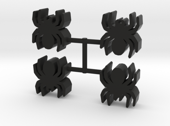Spider Meeple, 4-set 3d printed