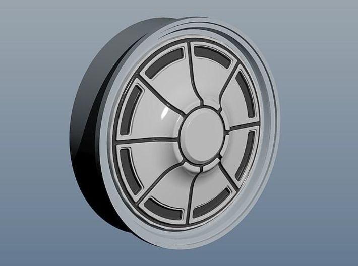 1971 Plymouth Hubcaps 3d printed rendering sample
