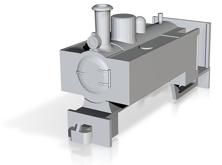 OO9 Decauville Mining 0-4-0T for Tsuwaga Chassis 3d printed