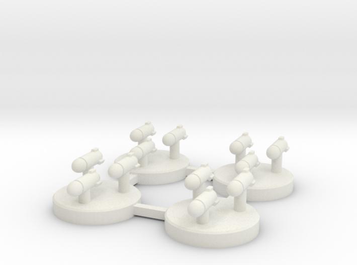 Torpedo Salvoes 3d printed