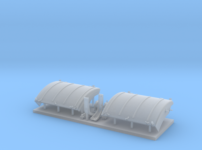 Panther D/A fenders with stowed extensions 3d printed