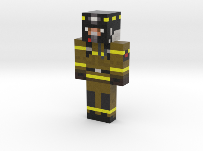 ZeFireFighter | Minecraft toy 3d printed