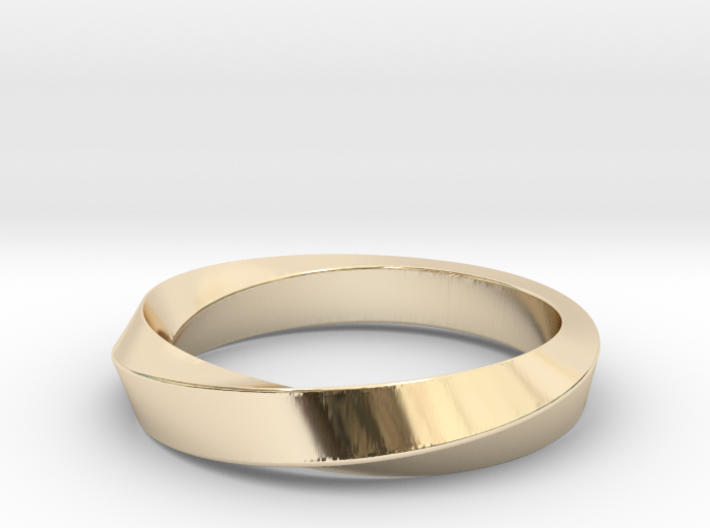 iRiffle Mobius Narrow Ring I(Size 12.5) 3d printed