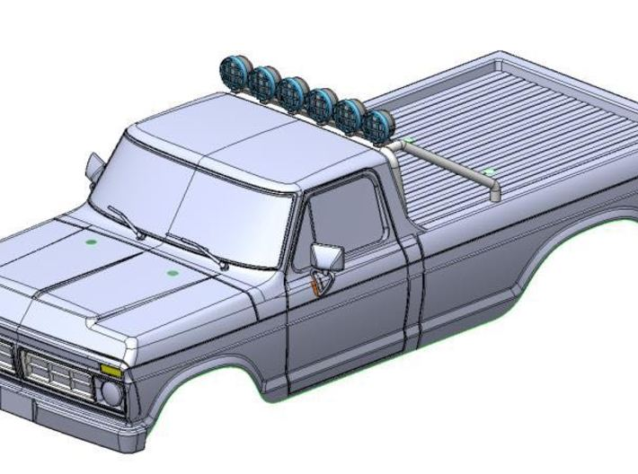 F-150 Roll Bar by Carisma Scale Adventure 3d printed Image shown with optional light set 15011