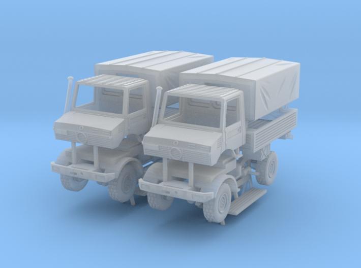 Unimog U1300 Militär 2x 1/200 3d printed
