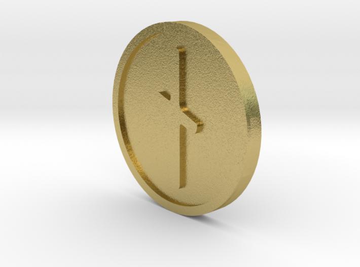 Naudiz Coin (Elder Futhark) 3d printed
