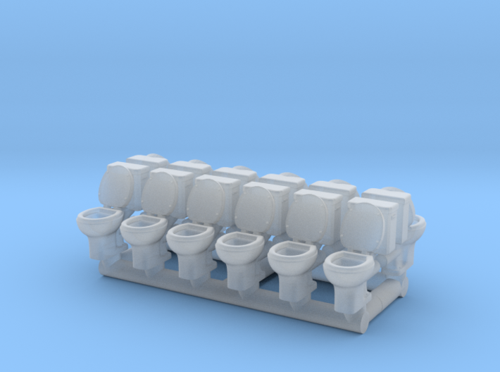 Toilet 01. 1:150 Scale 3d printed