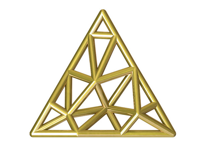 Tessellate Pendant — DATA IN EXILE 3d printed Polished Brass visualisation.