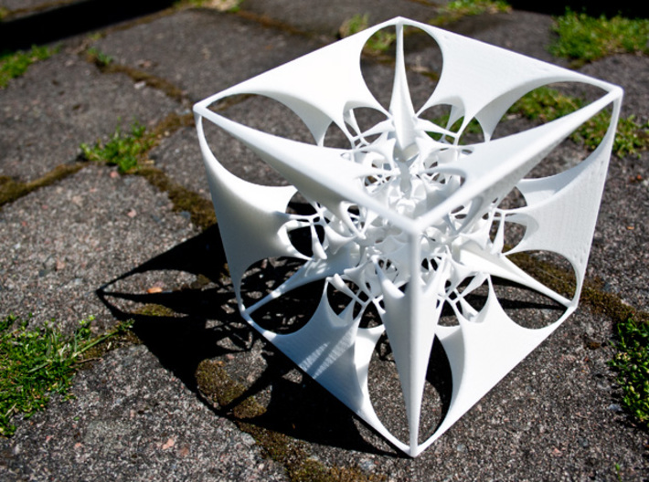 the Divine Sailor (imploding to infinitesimality) 3d printed