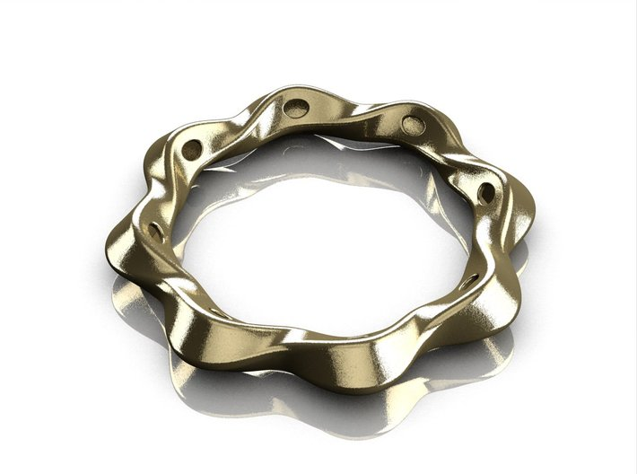 Twist bracelet 80 steel 3d printed