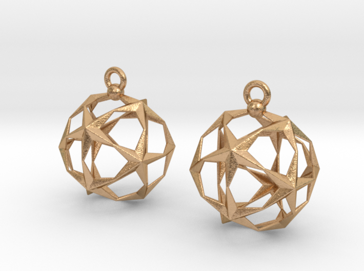 Stellated Dodecahedron Earrings 3d printed