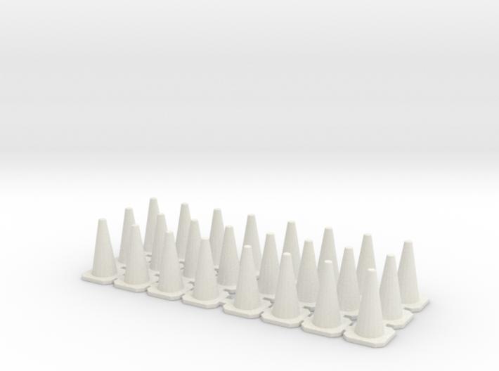 Traffic Cones 01. 1:43 scale 3d printed
