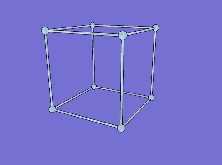 cubic structure 3d printed