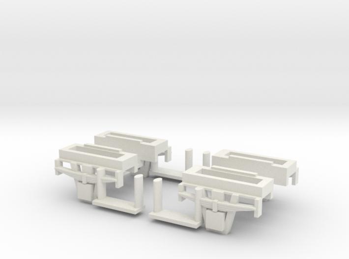 CCT Van Bogie Set  3d printed