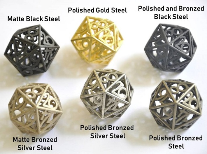 Fire Dice Set (Large) - Balanced 3d printed