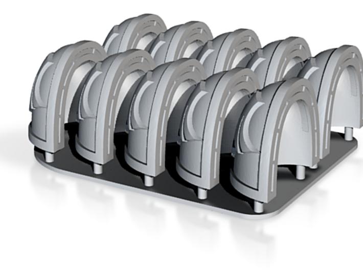 Raven Guard Shoulderpads 10x 40k 3d printed