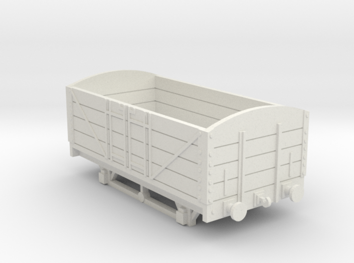 L&BR Open Wagon w/ Buffers OO Scale 3d printed