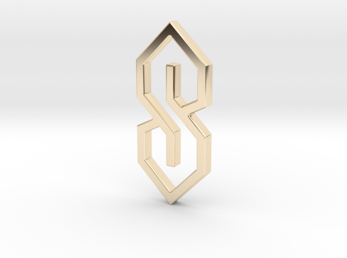 The S-Thing Pendant 3d printed