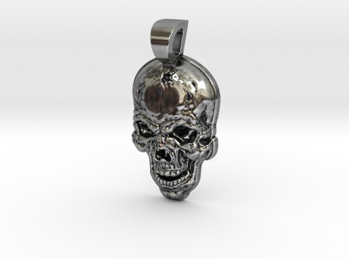 Skull pendant Oslo 3d printed