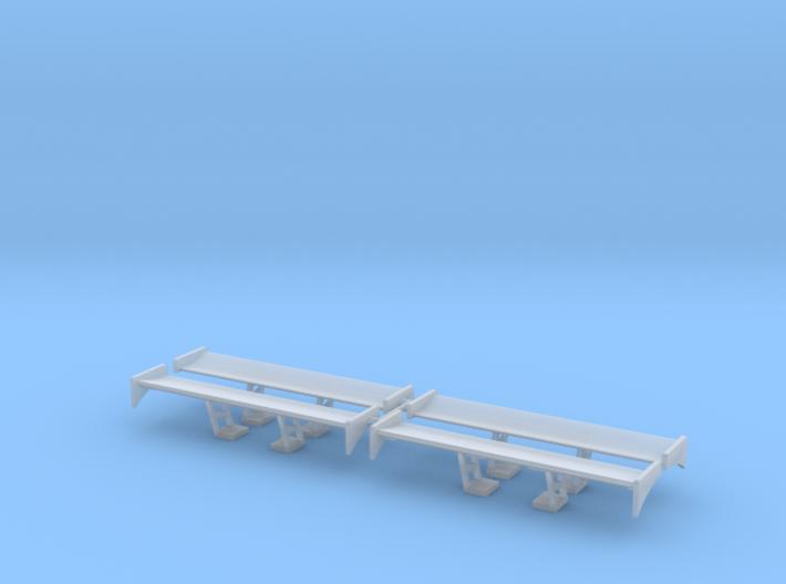 Set of 4 - Spoiler Wing Design 2B 3d printed