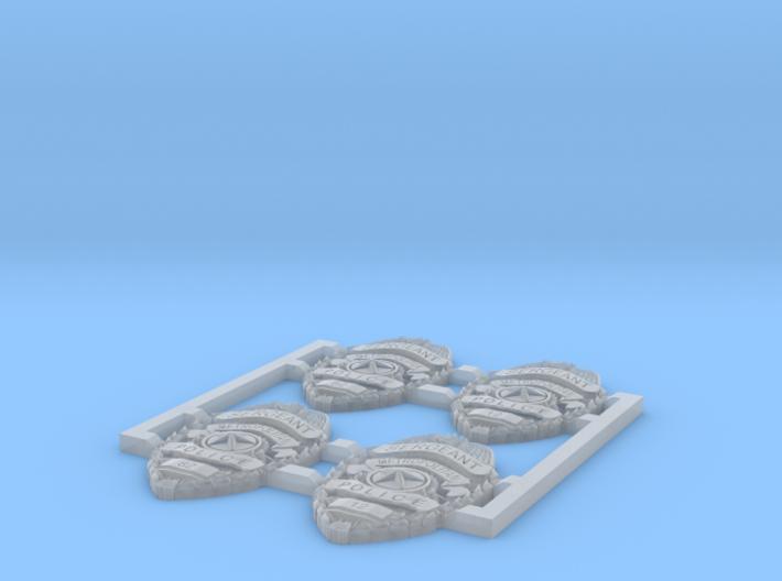 1:6 Metropolitan Sergeant Badges 2 pairs 3d printed