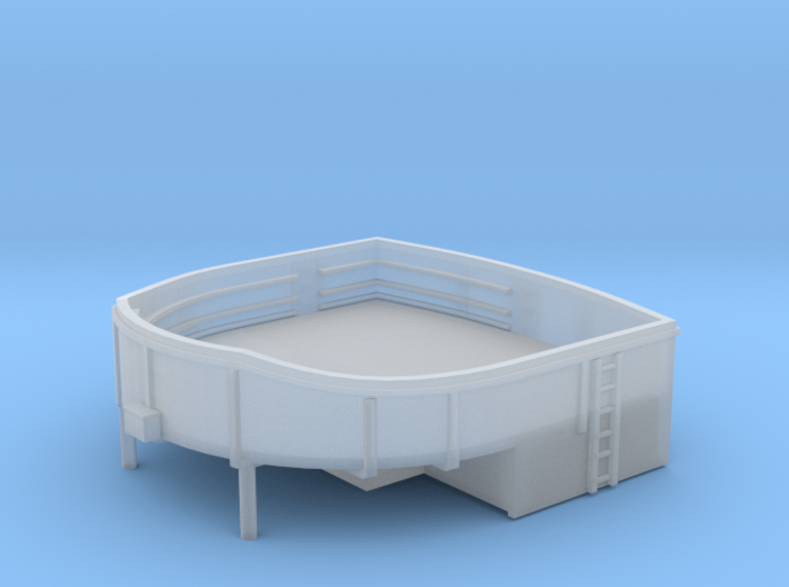 1/192 USN Stern Main Turret 40mm Gun Tub 3d printed