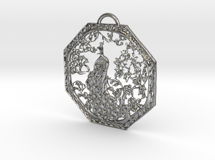 Chinese Peacock Pendant 3d printed