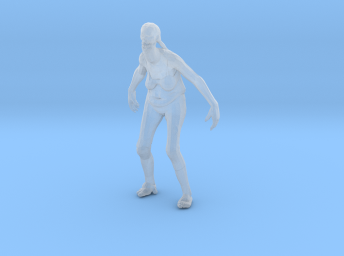 Spitting Zombie Attacking 1/60 miniature games rpg 3d printed
