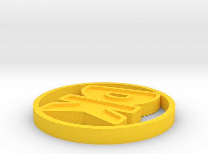 Initials Disk 3d printed