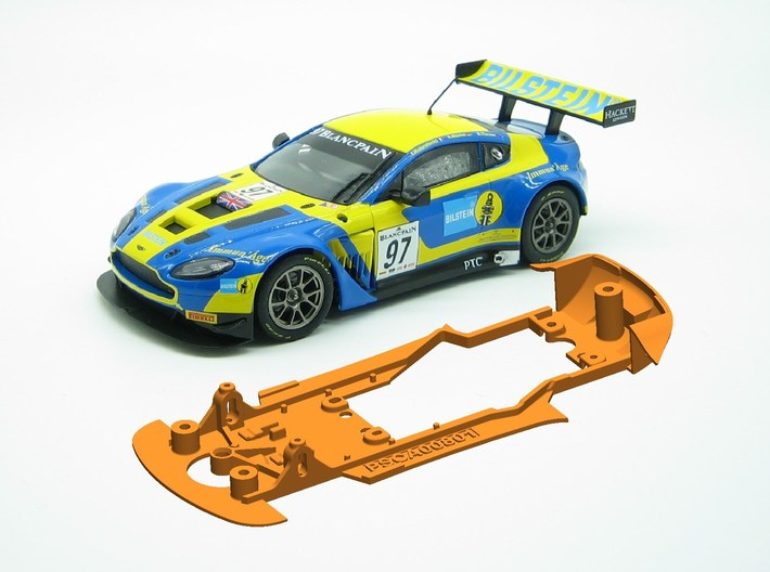 PSCA00801 Chassis for Carrera Aston Martin Vantage 3d printed