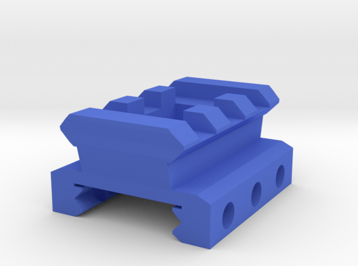Nerf Rival Rail to Picatinny Rail Adapter (3 Slots 3d printed
