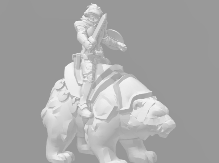 Polar Bear War Mount 1/60 miniature for games and  3d printed