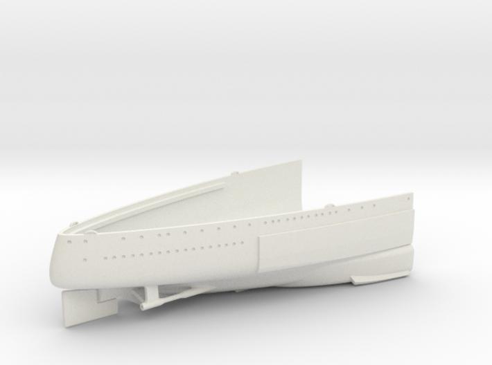 1/350 1919 US Small Battleship Design A7 Stern 3d printed